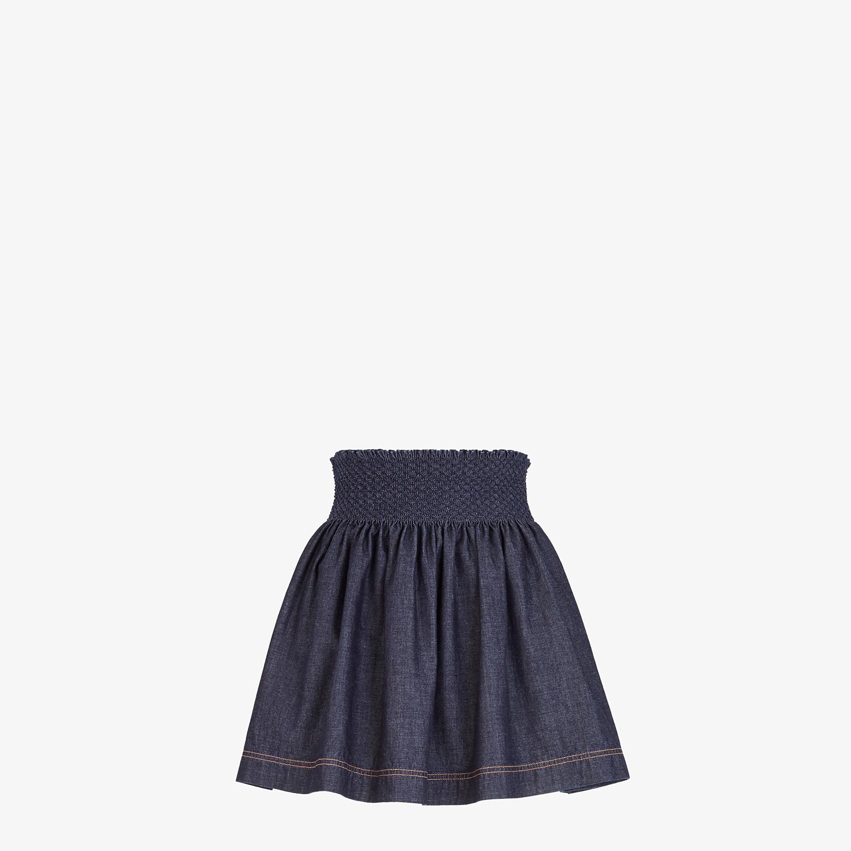 FENDI SKIRT - Blue chambray skirt - view 1 detail
