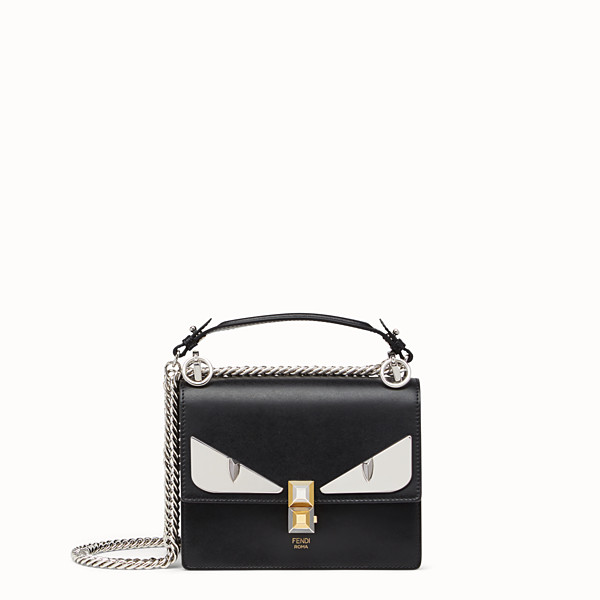 FENDI KAN I PICCOLA - Minibag Bag Bug in pelle nera - vista 1 thumbnail piccola