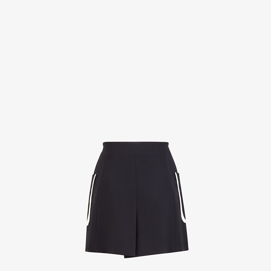 FENDI SKIRT - Black cady skirt - view 2 detail