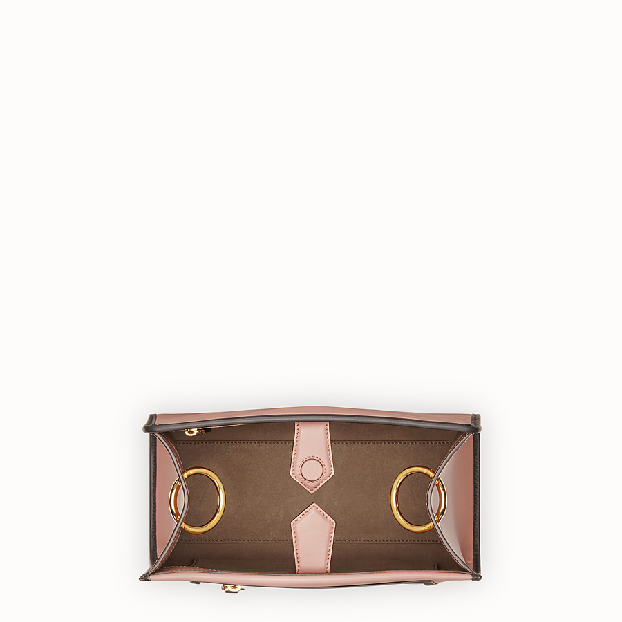FENDI RUNAWAY SMALL - Pink leather bag - view 4 detail