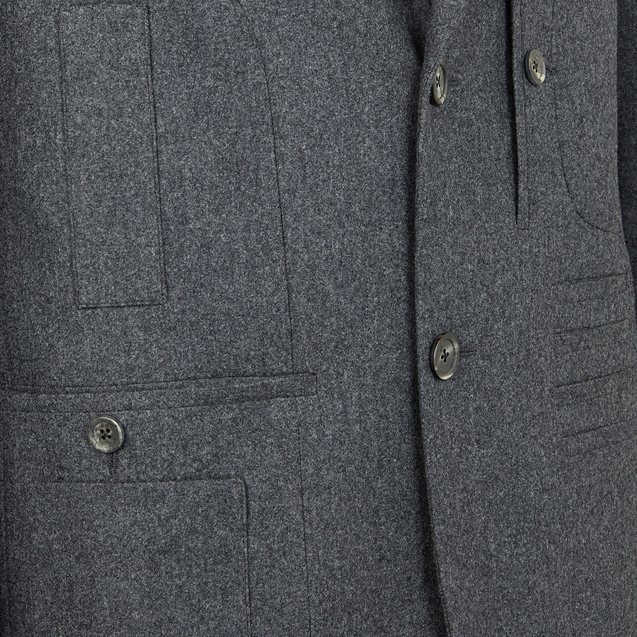 FENDI JACKET - Gray wool blazer - view 3 detail