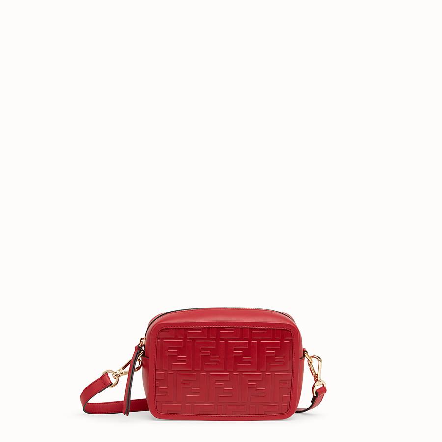 74d251617e7e Red leather bag - MINI CAMERA CASE