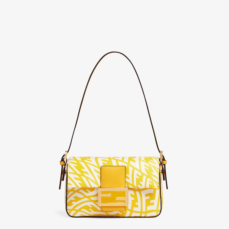 FENDI MINI BAGUETTE 1997 - Yellow glazed canvas bag - view 1 detail