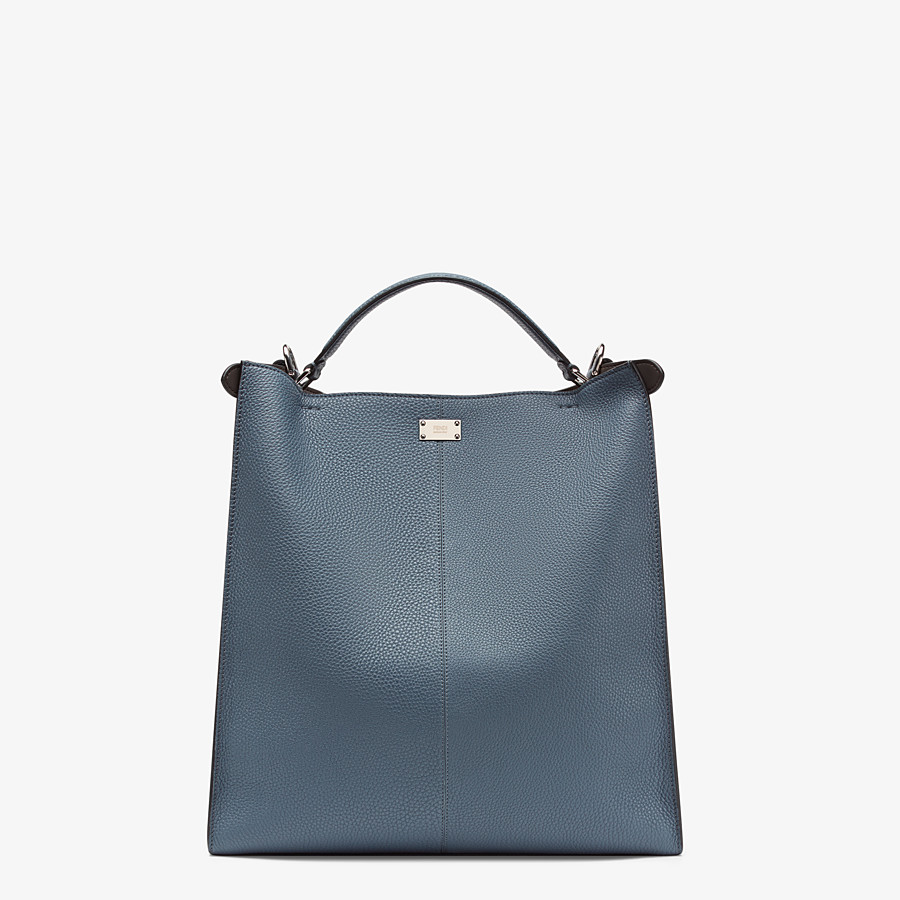 FENDI PEEKABOO X-LITE FIT - Blue Romano leather bag - view 4 detail