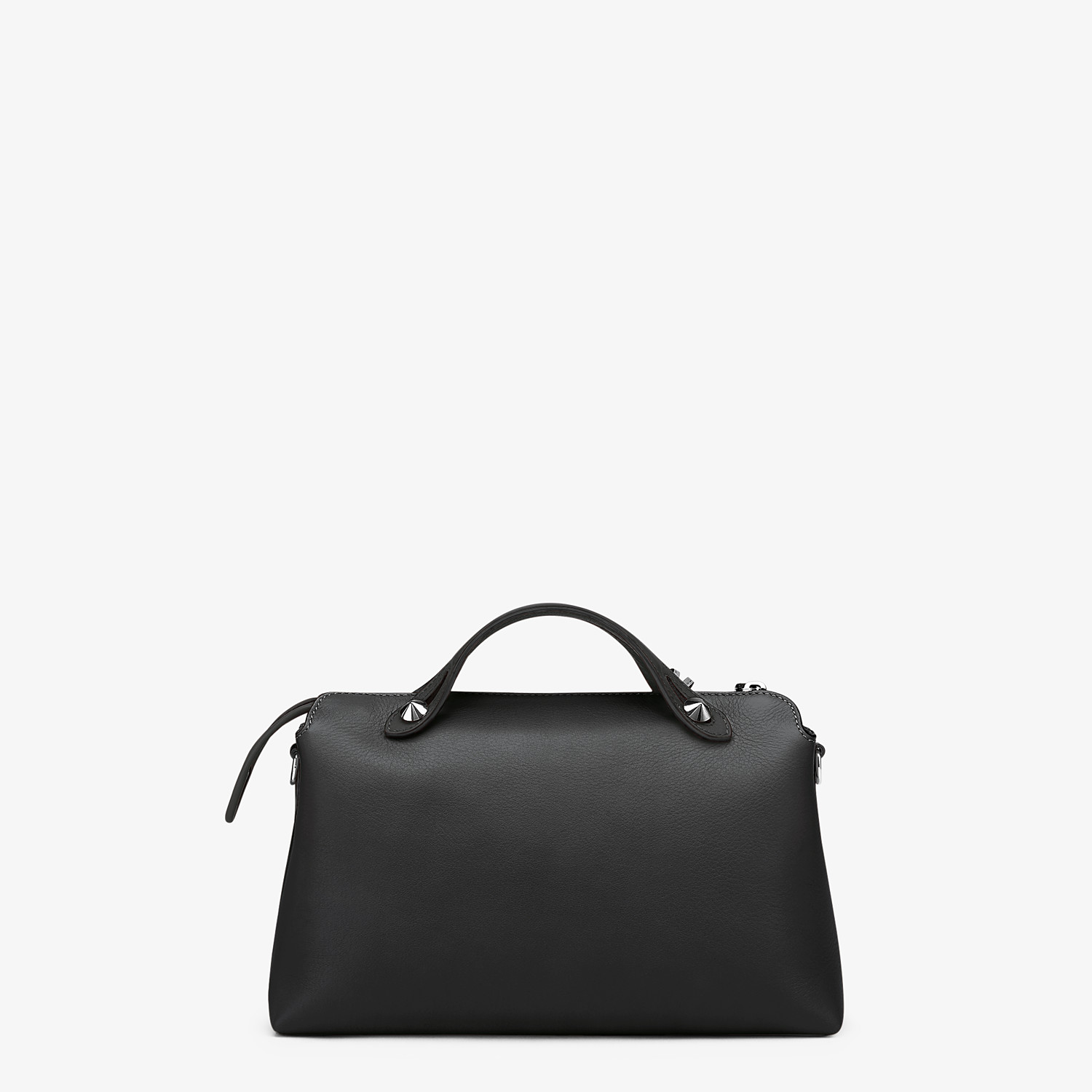 FENDI BY THE WAY MEDIUM - Black leather Boston bag - view 3 detail