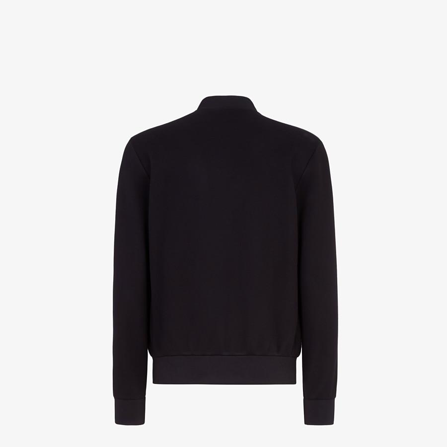 FENDI BOMBER - Black fabric jacket - view 2 detail