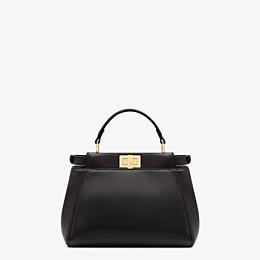FENDI PEEKABOO ICONIC MINI - Handtasche aus schwarzem Nappaleder - view 4 thumbnail