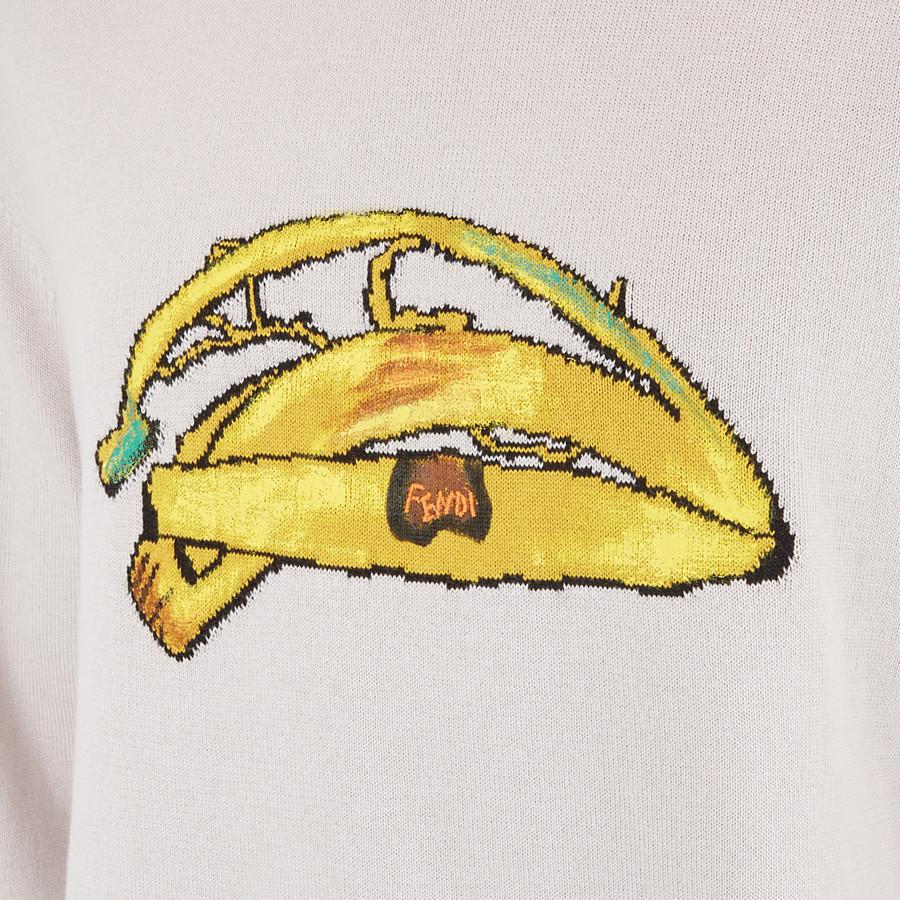 FENDI T恤 - 白色棉質和羊絨上衣 - view 3 detail