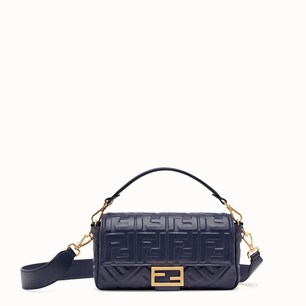 FENDI BAGUETTE - Blue nappa leather bag - view 1 small thumbnail