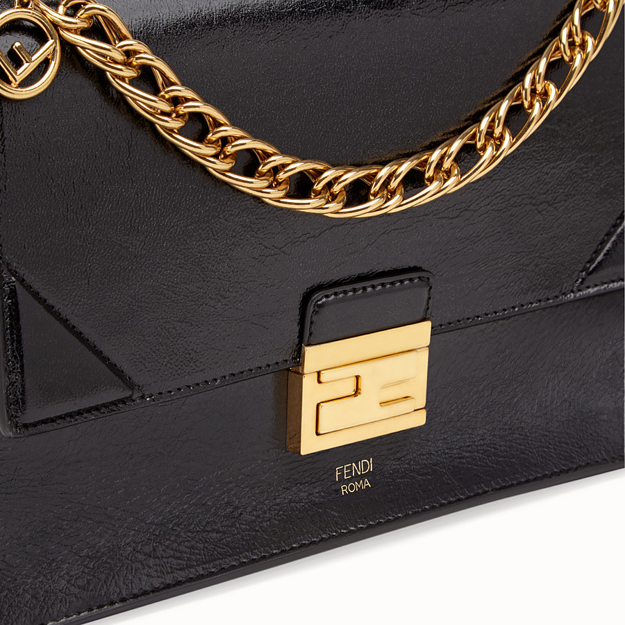 FENDI KAN U - Black leather bag - view 5 detail