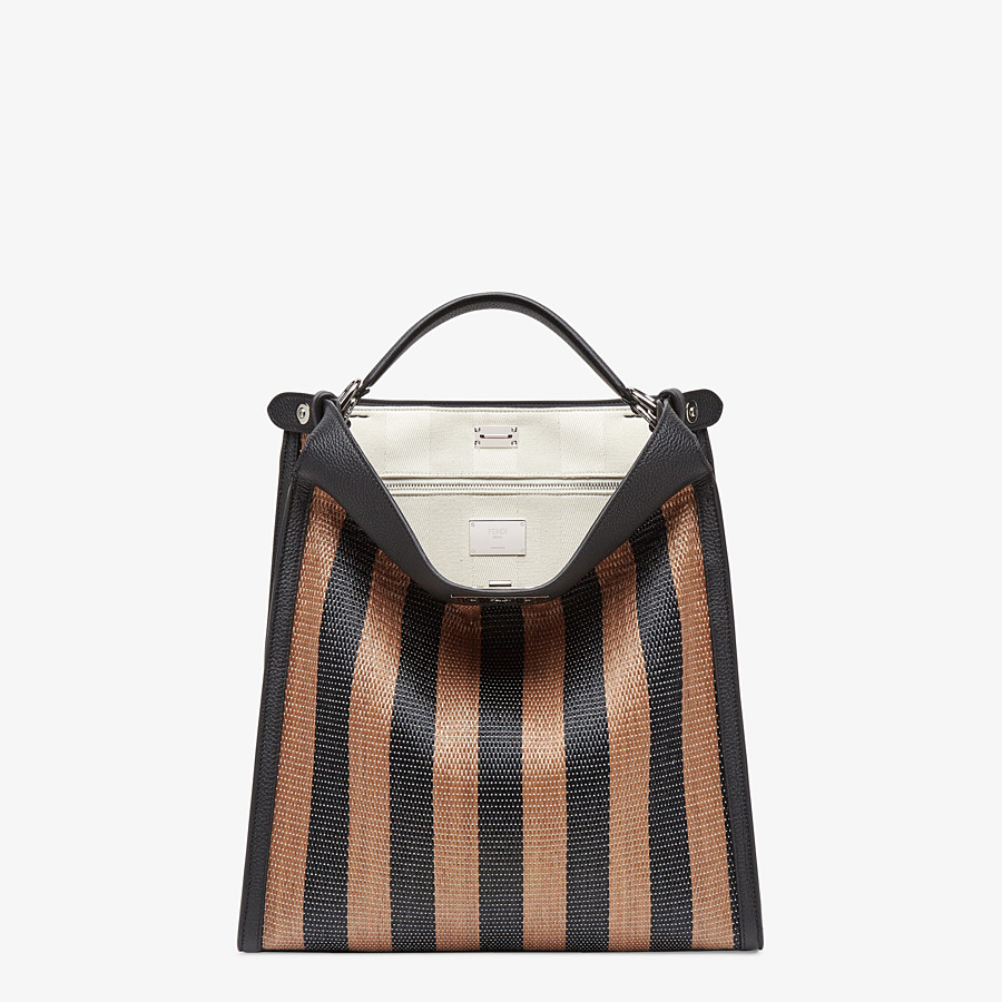 FENDI PEEKABOO X-LITE FIT - Brown raffia bag - view 2 detail