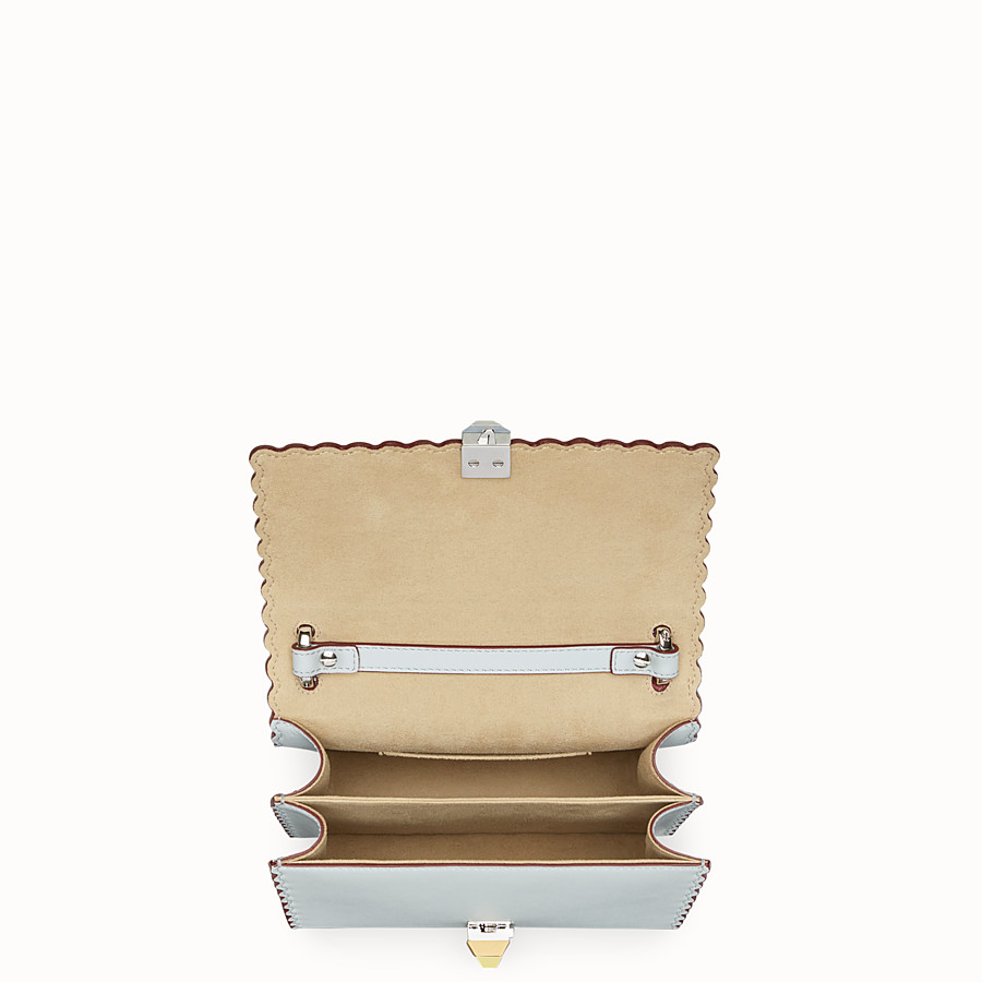 FENDI KAN I SMALL - Gray leather mini-bag - view 4 detail