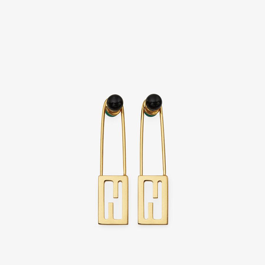 FENDI BAGUETTE SMALL EARRINGS - Gold-colored earrings - view 1 detail