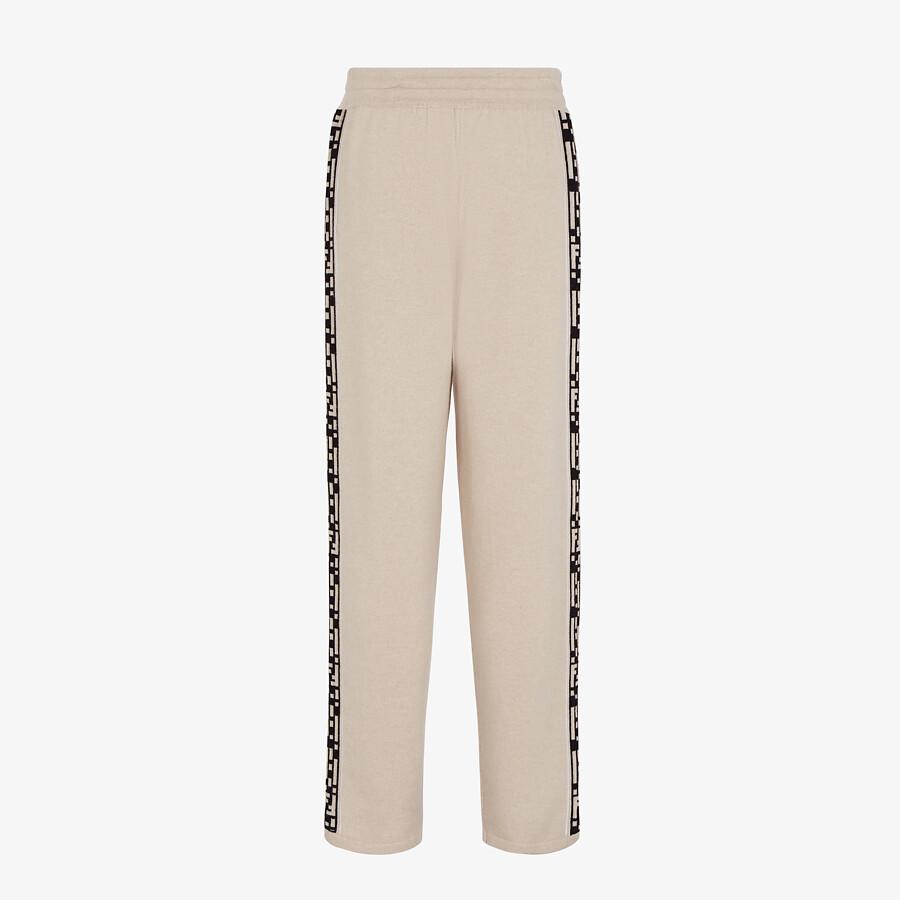 FENDI PANTS - Beige cashmere pants - view 2 detail