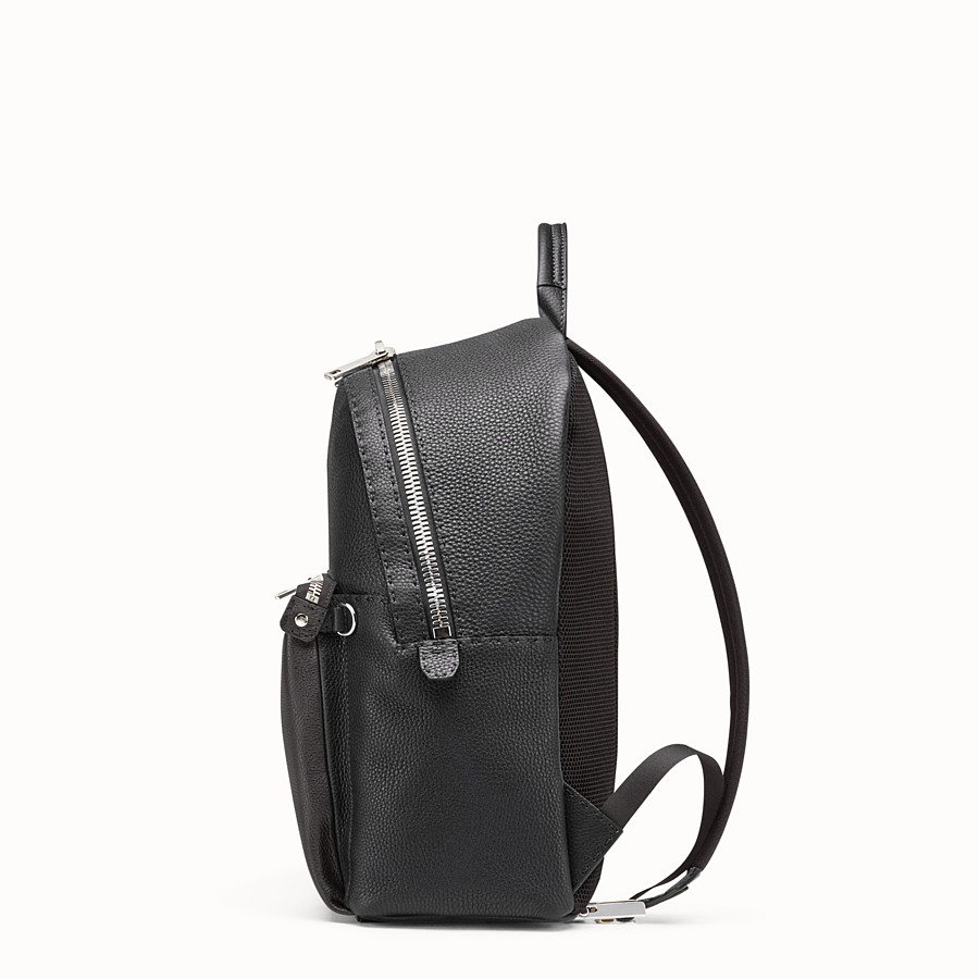 FENDI BACKPACK - Black Selleria backpack with stitching - view 2 detail