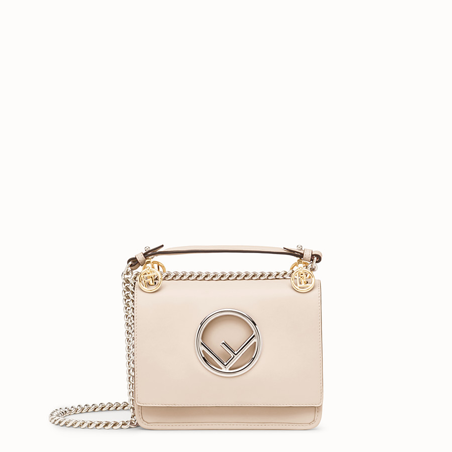 FENDI KAN I F SMALL - Mini sac en cuir rose - view 1 detail