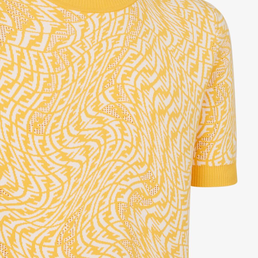 FENDI JUMPER - Yellow viscose jumper - view 3 detail