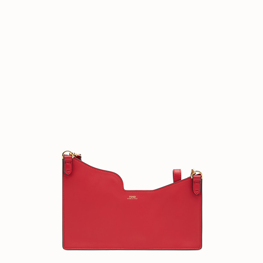 FENDI 3 POCKETS MINI BAG - Red leather messenger - view 3 detail