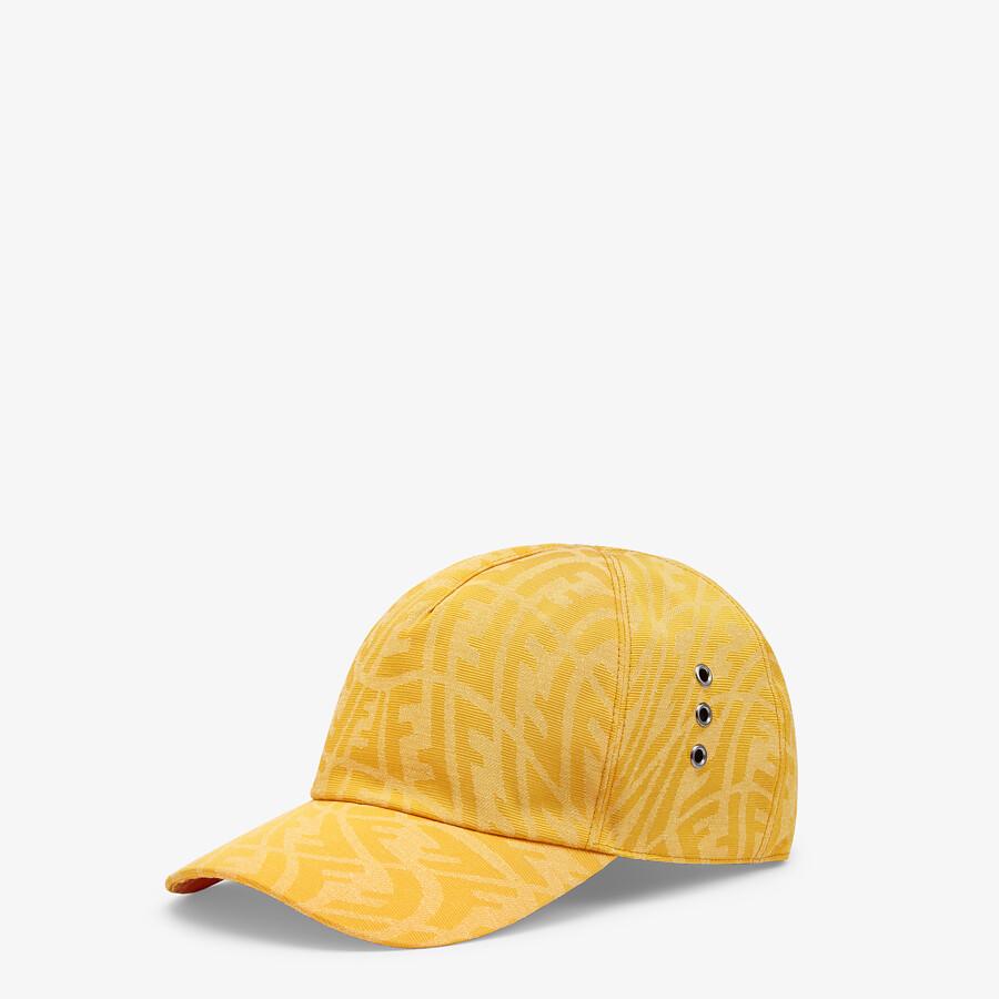 FENDI HAT - Yellow canvas baseball cap - view 1 detail