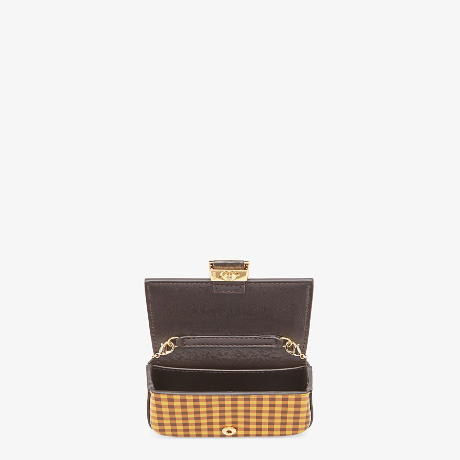 FENDI NANO BAGUETTE CHARM - Brown leather charm - view 5 detail