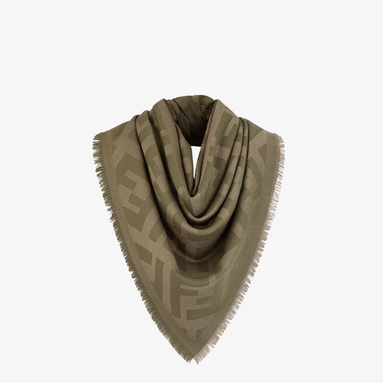 FENDI FF SHAWL - Green wool and cashmere shawl - view 2 detail