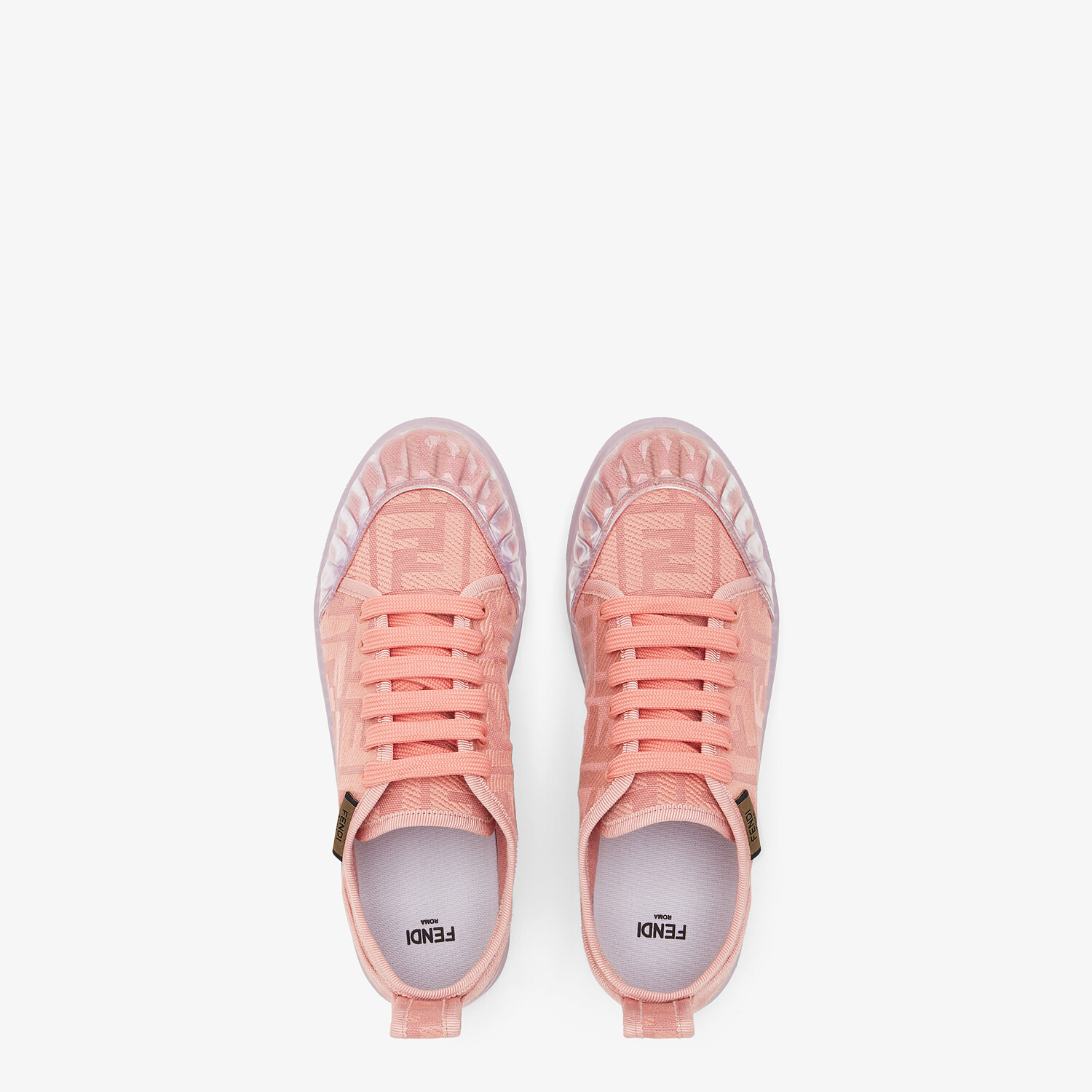 FENDI SNEAKERS - Pink canvas low tops - view 4 detail