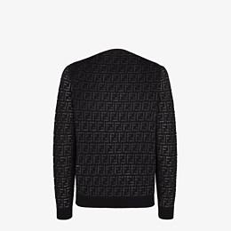 FENDI PULLOVER - Pullover aus Wolle und Nylon in Schwarz - view 2 thumbnail