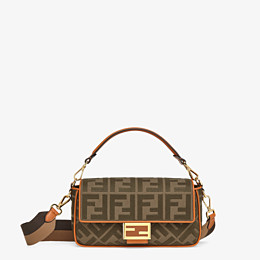 FENDI BAGUETTE - Green canvas bag - view 1 thumbnail