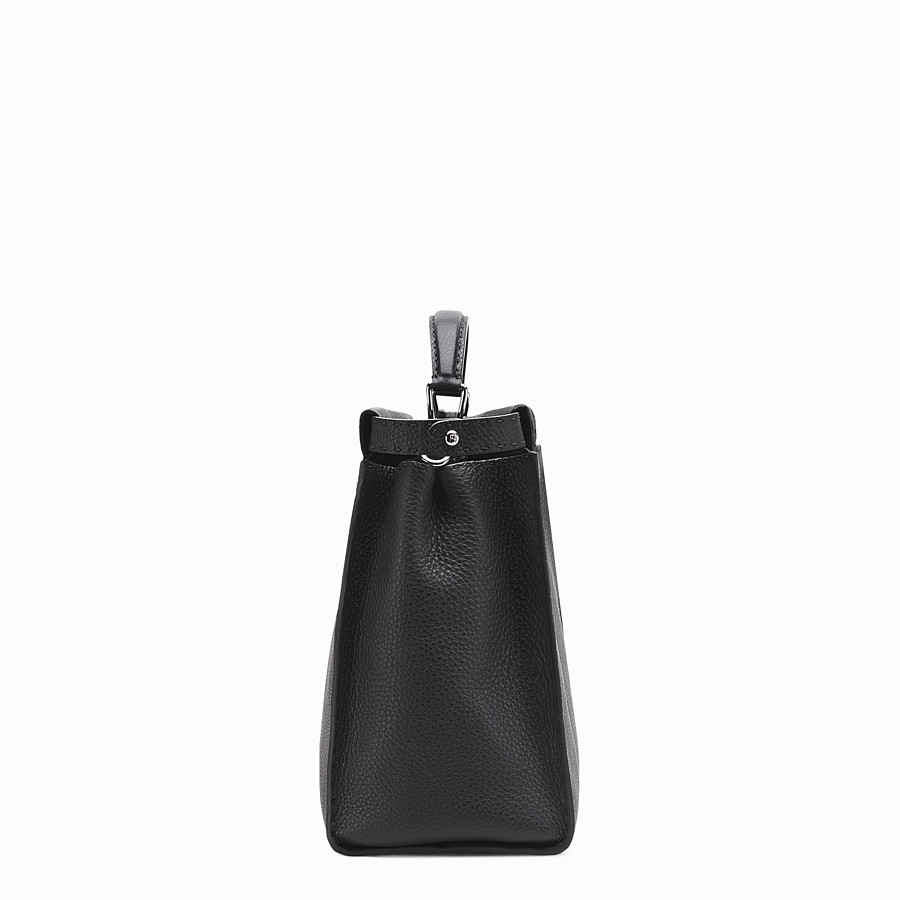 FENDI PEEKABOO - Small black Roman leather handbag - view 2 detail