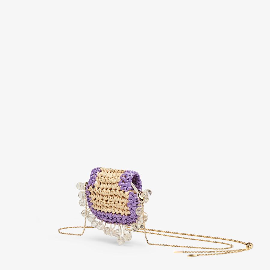 FENDI PICO BAGUETTE CHARM - Lilac raffia charm - view 2 detail