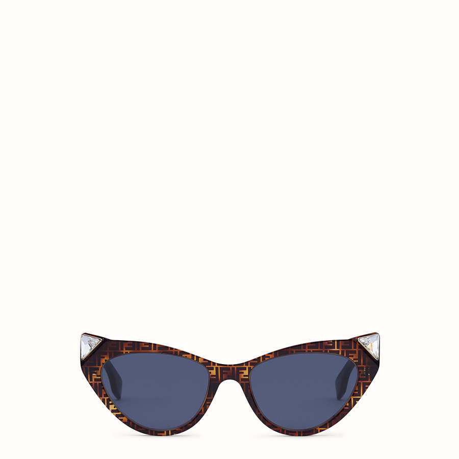 FENDI IRIDIA - FF Sonnenbrille in Havannabraun - view 1 detail