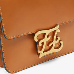 FENDI KARLIGRAPHY -  Brown leather bag - view 6 thumbnail