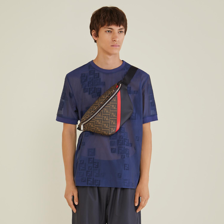 FENDI BELT BAG - Brown fabric belt bag - view 6 detail