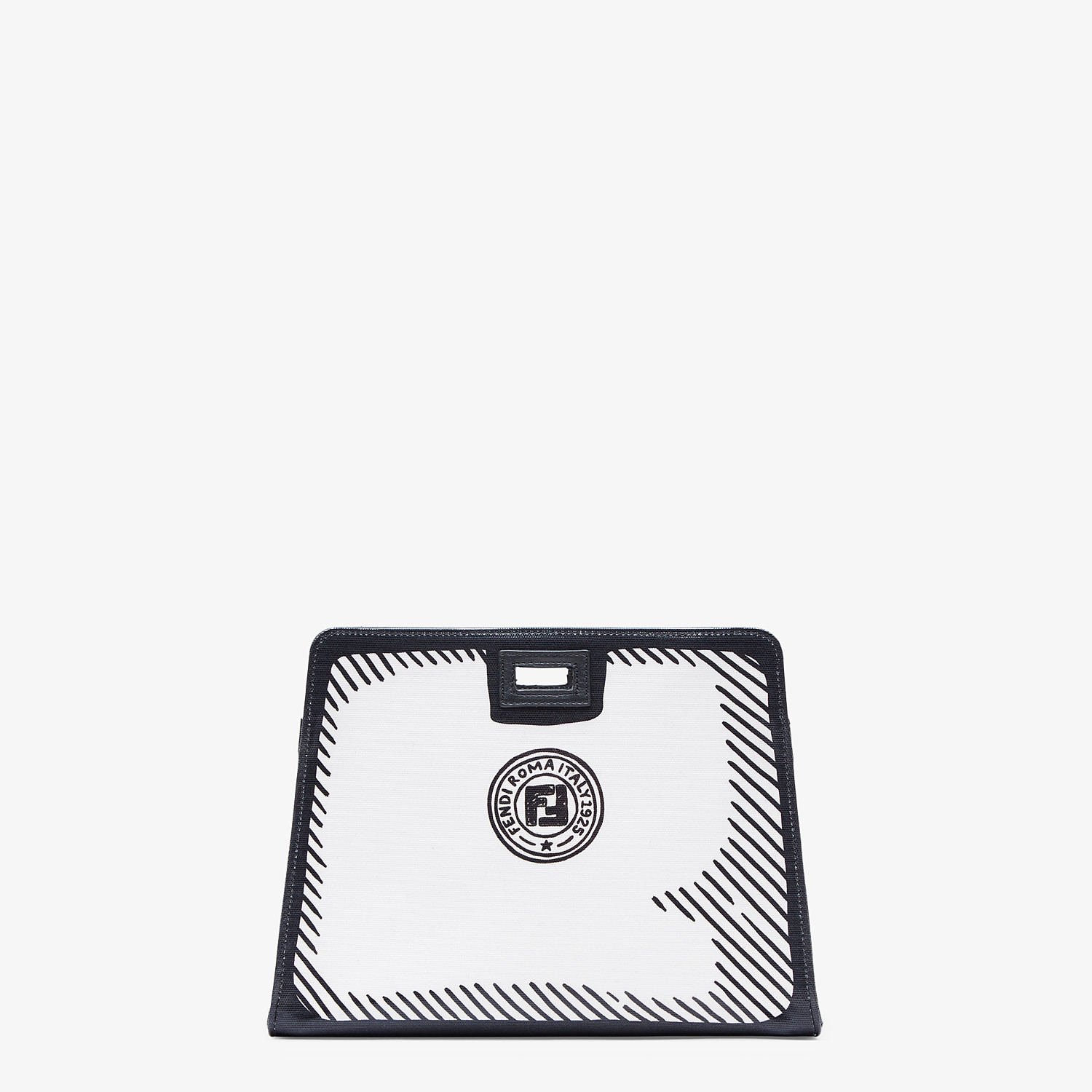 FENDI PEEKABOO DEFENDER SMALL - White canvas Peekaboo cover - view 3 detail