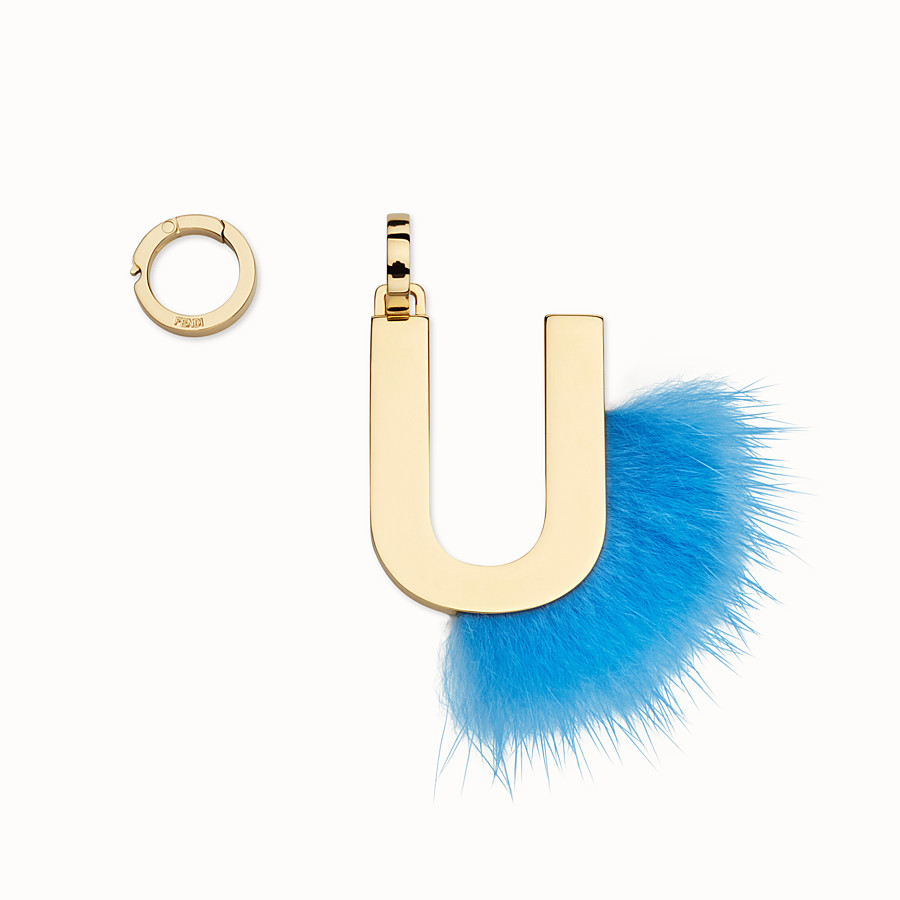 FENDI ABCLICK U - Pendant with fluorescent light blue fur - view 1 detail