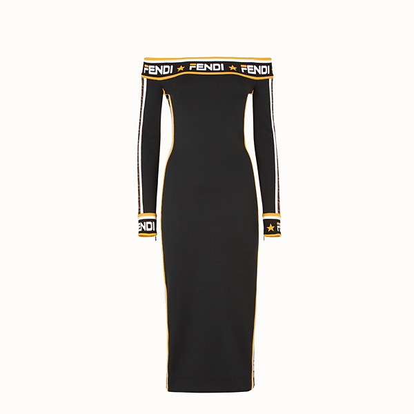 FENDI DRESS - Black jersey dress - view 1 small thumbnail