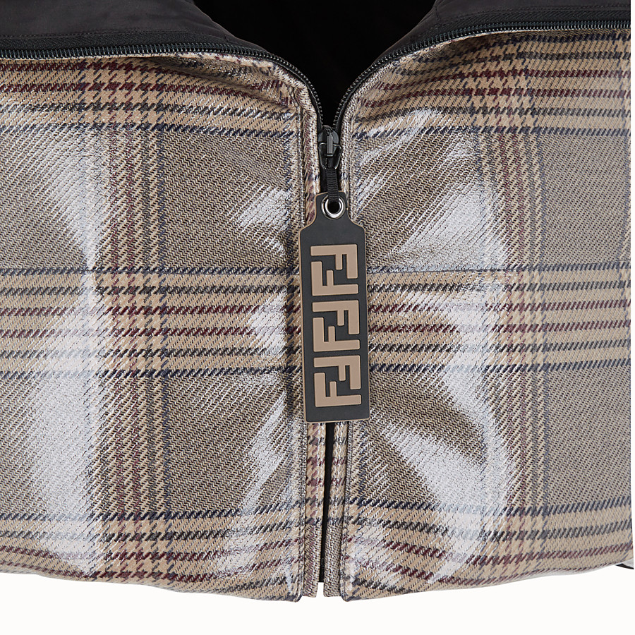 FENDI CAPE - Prince of Wales check fabric cape - view 3 detail