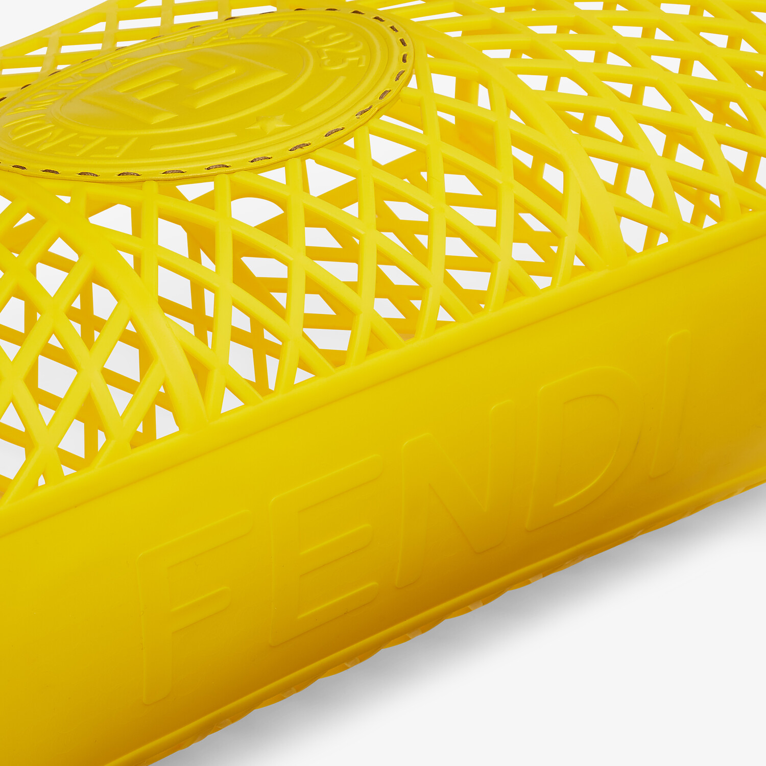 FENDI FENDI BASKET MEDIUM - Yellow recycled plastic mini-bag - view 6 detail