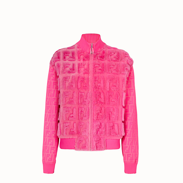 FENDI GIACCA - Bomber Fendi Prints On in shearling - vista 1 thumbnail piccola