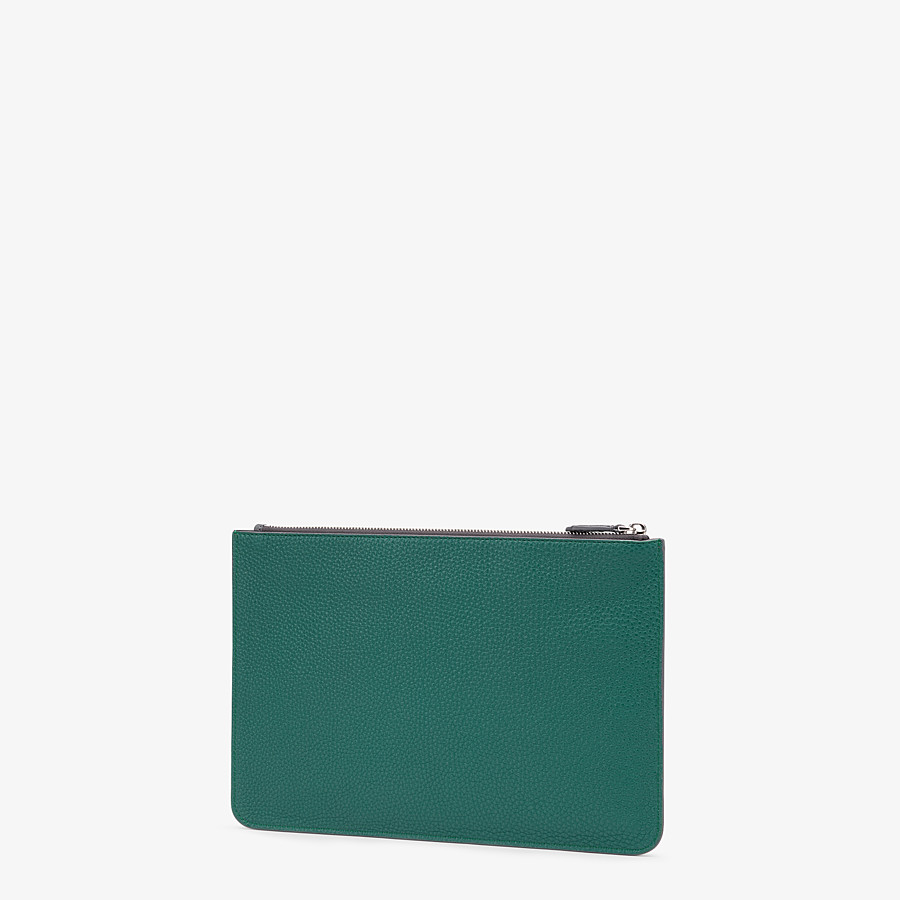 FENDI POUCH - Multicolor leather slim pouch - view 2 detail