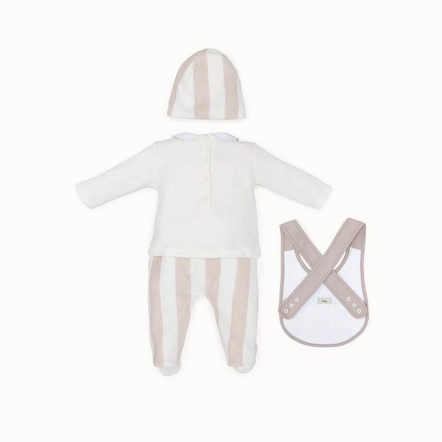 FENDI BABY KIT - Beige and ivory cotton and chenille kit - view 2 detail