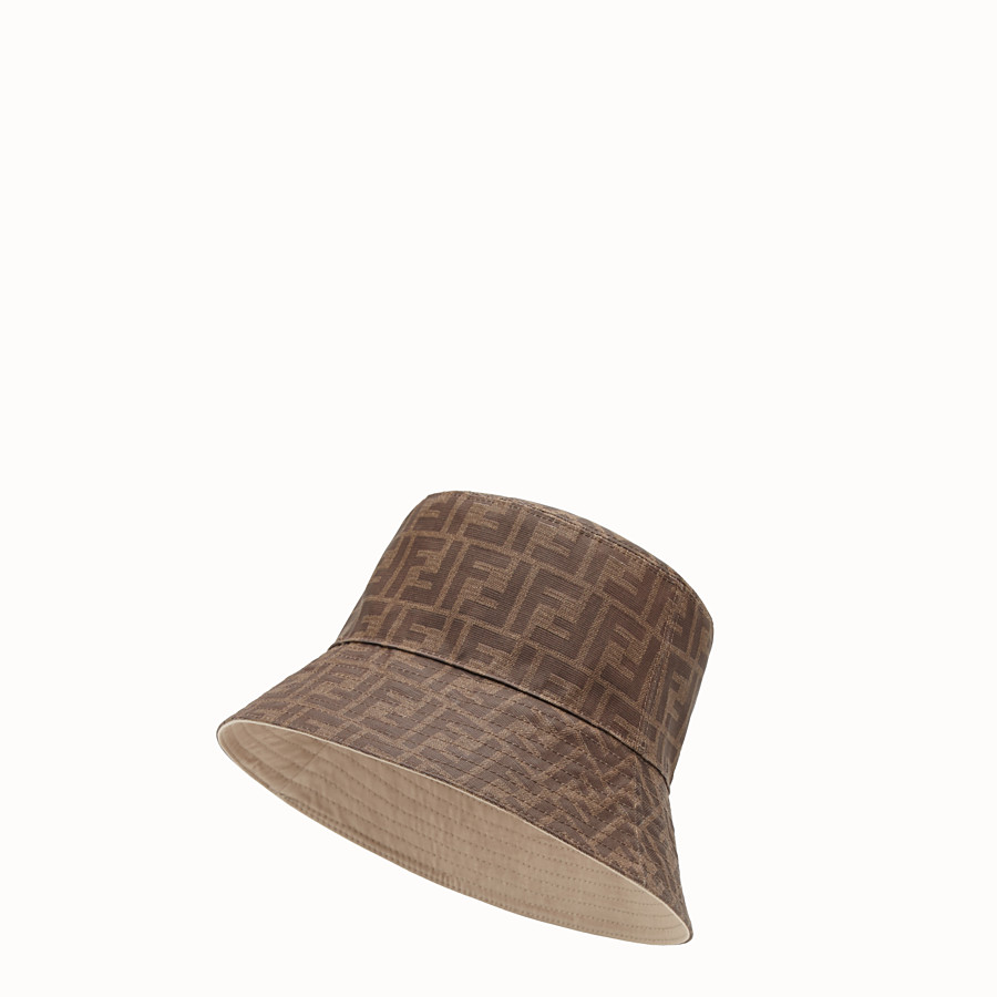 FENDI HAT - Brown tech fabric hat - view 1 detail