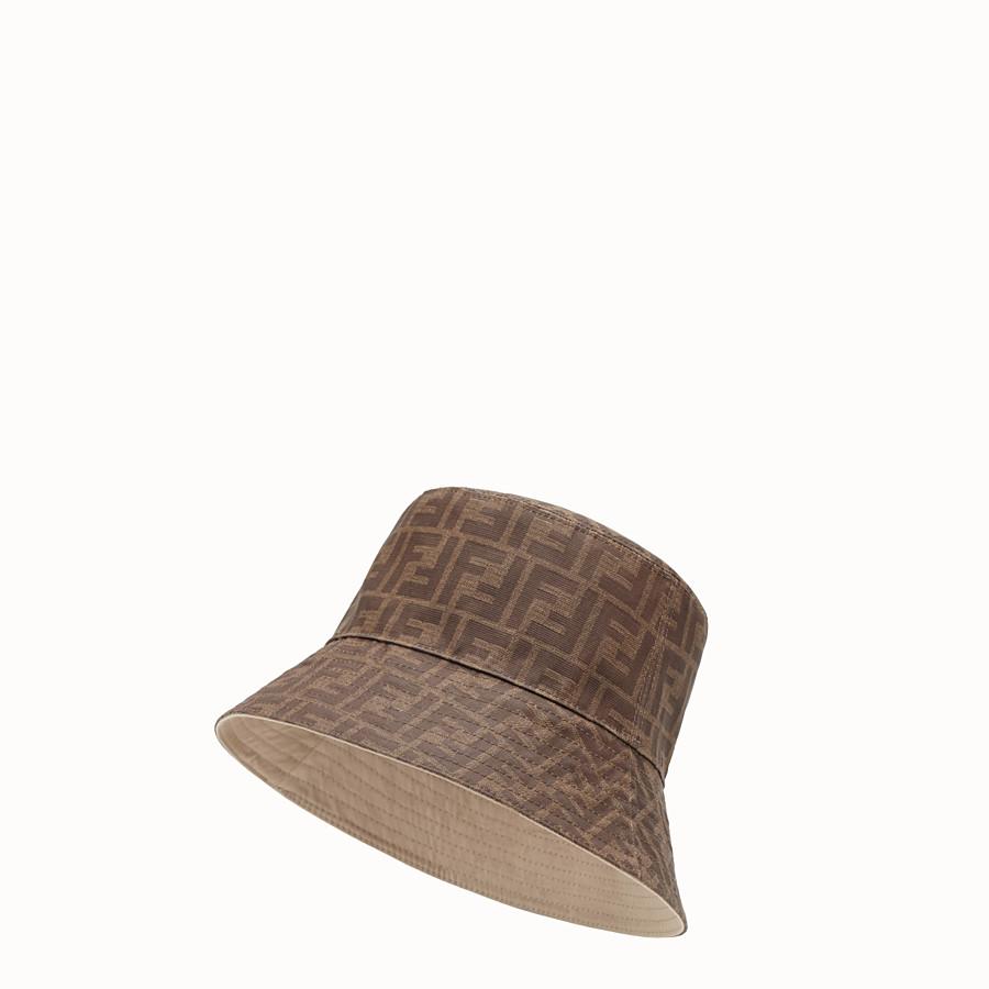 FENDI CAPPELLO - Cappello in tessuto tecnico marrone - vista 1 dettaglio