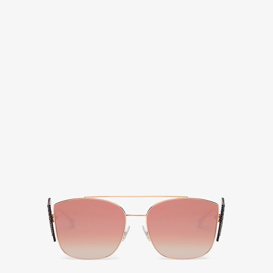 FENDI FFREEDOM - Gold-coloured sunglasses - view 1 detail