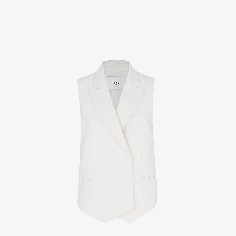 FENDI VEST - White linen vest - view 1 detail