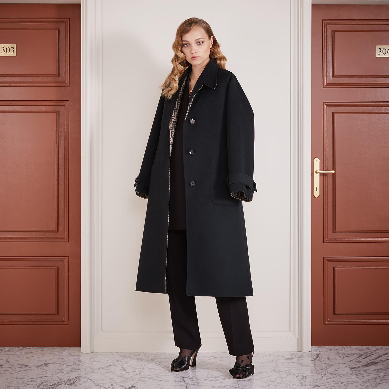 FENDI OVERCOAT - Black wool coat - view 5 detail