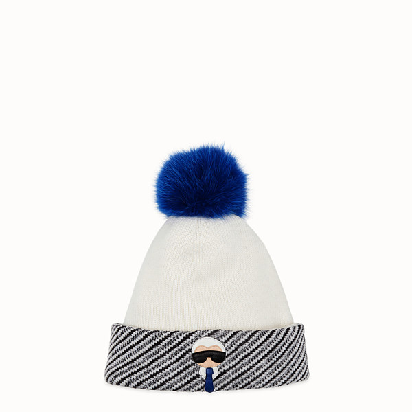 FENDI HAT - White wool, cashmere and silk hat - view 1 small thumbnail