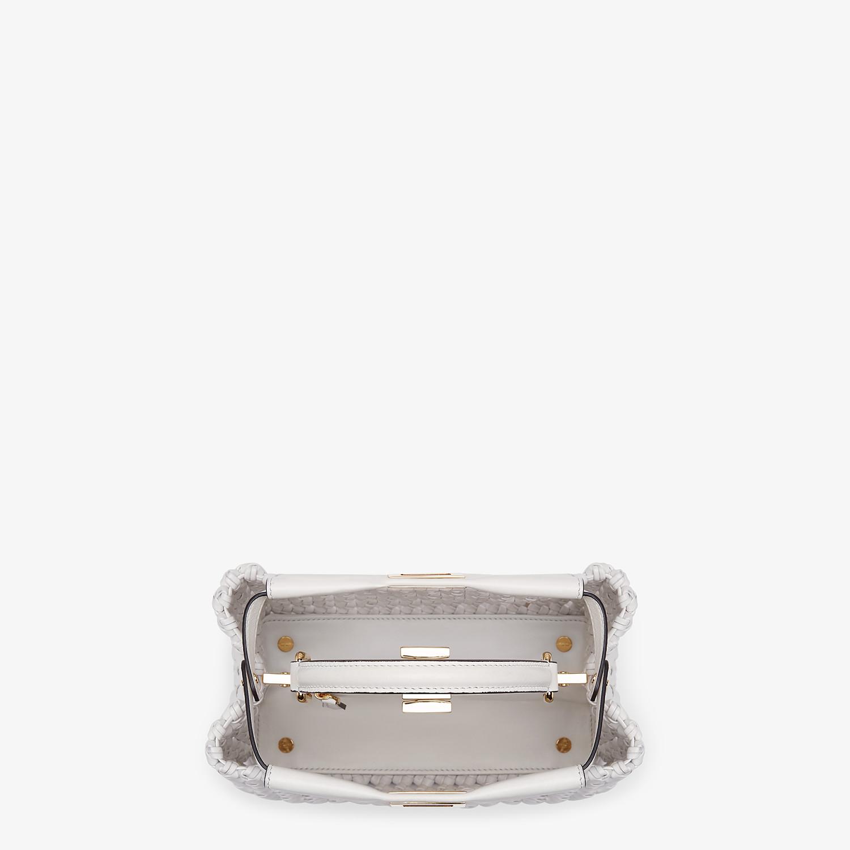 FENDI PEEKABOO ICONIC MINI - White leather interlace bag - view 5 detail
