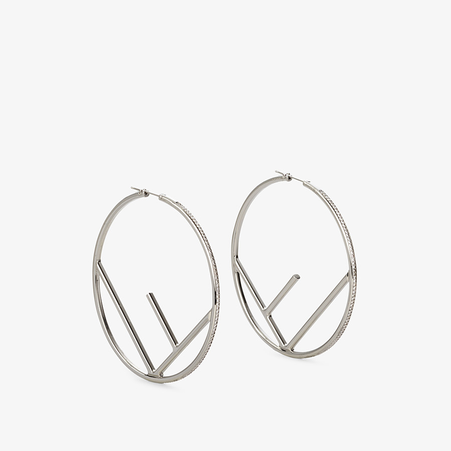 FENDI F IS FENDI EARRINGS - Silver-colored earrings - view 1 detail