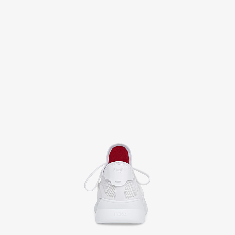 FENDI SNEAKERS - Running shoes in white tech mesh - view 3 detail